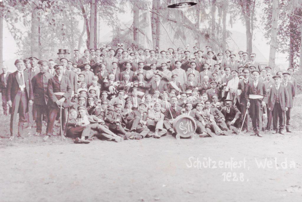 Schützenfest in Welda 1928