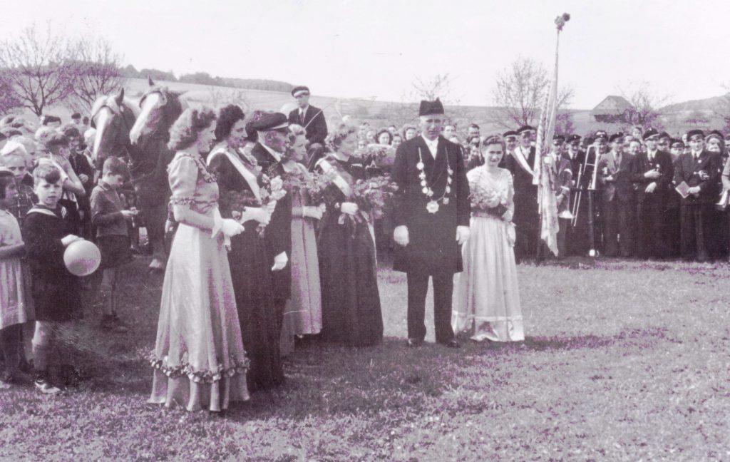 Majestäten in Welda 1950