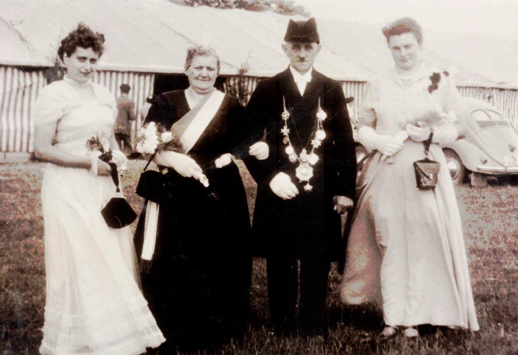 Majestäten in Welda 1953