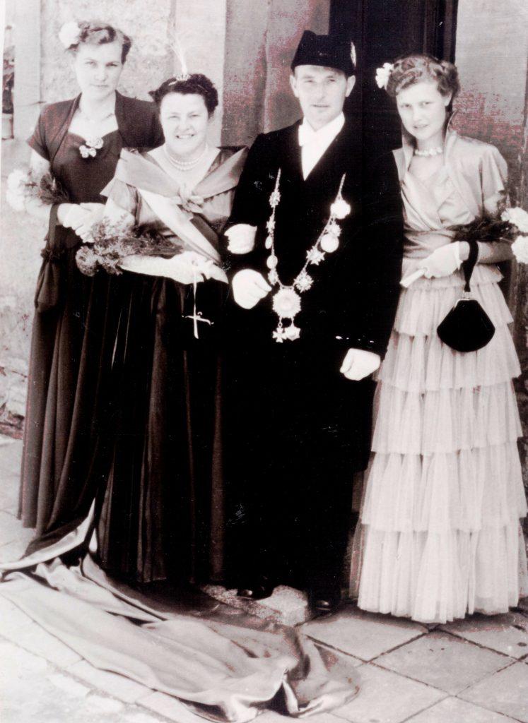 Majestäten in Welda 1954