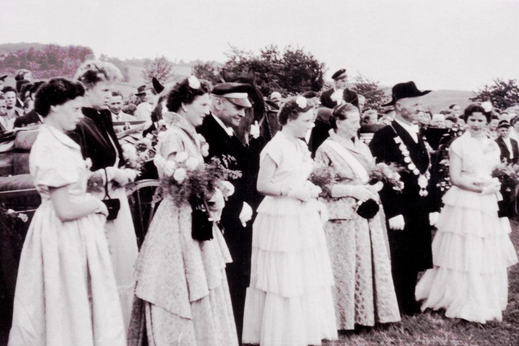 Majestäten in Welda 1956