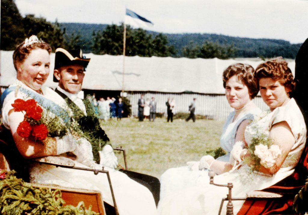 Majestäten in Welda 1958