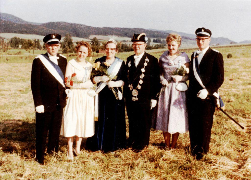 Majestäten in Welda 1960