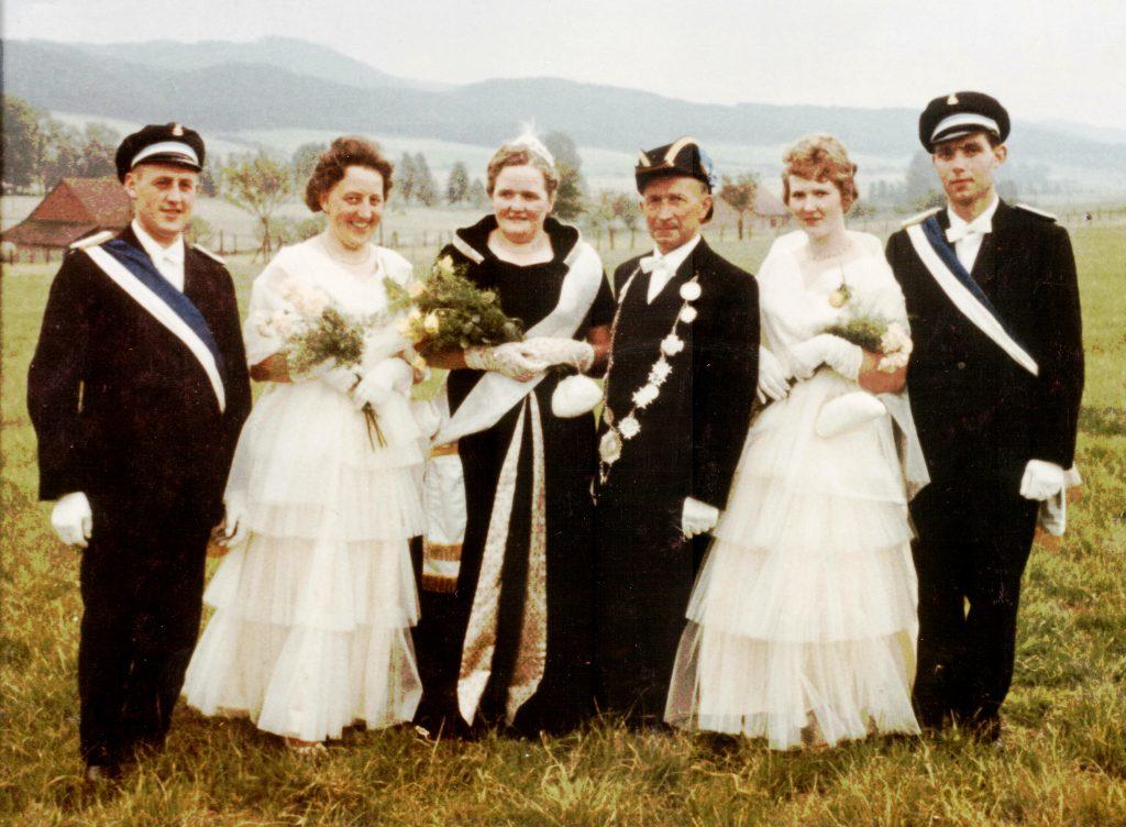 Majestäten in Welda 1961