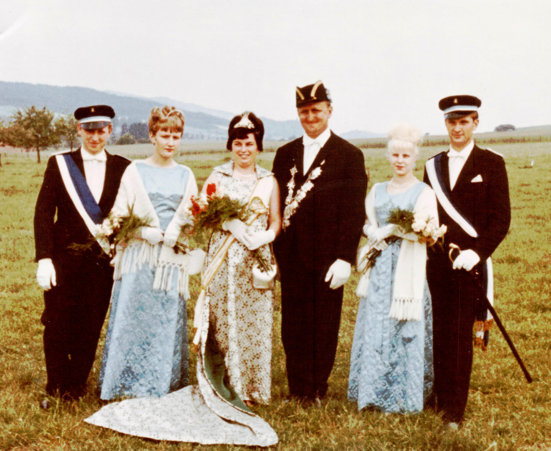 Majestäten in Welda 1966