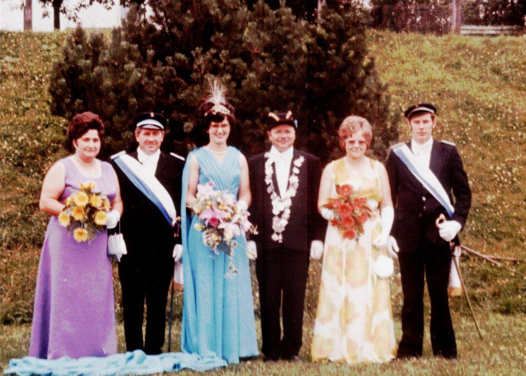 Majestäten in Welda 1975