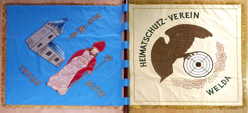 Fahne des 2. Zuges vom Heimatschutzverein Welda aus 1974